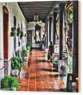 Antigua Hall Wood Print
