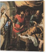 Antiochus And Stratonike Wood Print