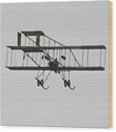 Antique 1910 Henri 3 Biplane  Airplane Takes Flight Poster Print Wood Print