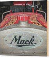 Antique 1930 Mack Bc-cd Fire Truck Wood Print