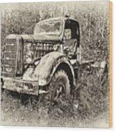 Antique 1947 Mack Truck Wood Print
