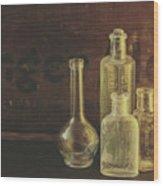 Antique Bottles Wood Print