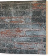 Antique Brick Wall Wood Print