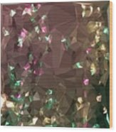 Antique Bronze Abstract Low Polygon Background Wood Print