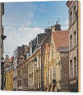 antique building view in Old Town Lille, France Wood Print