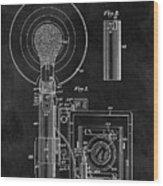 Antique Camera Flash Patent Wood Print