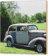 Antique Car 1 Wood Print by Douglas Barnett