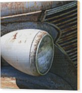Antique Car Headlight Wood Print