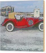 Antique Car Wood Print