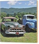 Antique Cars  Wood Print