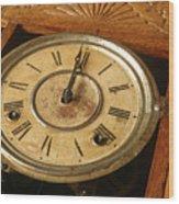 Antique Clock 2 Wood Print