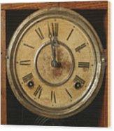 Antique Clock 3 Wood Print