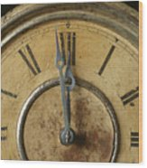 Antique Clock 6 Wood Print