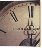 Antique Clock Wood Print