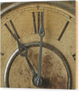 Antique Clock Wood Print
