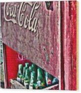 Antique Coca Cola Coke Refrigerator Wood Print