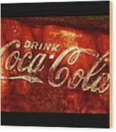 Antique Coca-cola Cooler II Wood Print