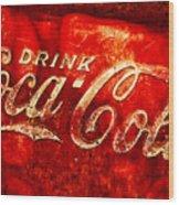 Antique Coca-cola Cooler Wood Print