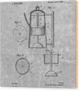 Antique Coffee Percolator Patent Wood Print