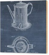 Antique Coffee Pot Patent Wood Print