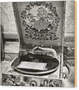 Antique Decca Gramophone By Kaye Menner Wood Print