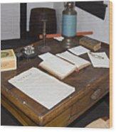 Antique Desk Wood Print