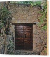 Antique Door Wood Print