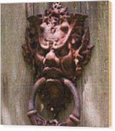Antique Door Knocker Wood Print