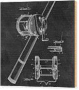 Antique Fishing Reel Patent Wood Print
