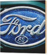 Antique Ford Badge Wood Print