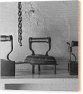 Antique Irons Wood Print