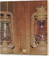 Antique Lamps Wood Print
