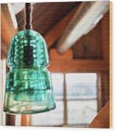 Antique Light Fixture 3 Wood Print