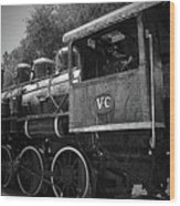 Antique Loco Wood Print