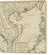 Antique Map Of South East Asia Wood Print