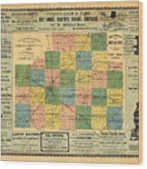 Antique Map Of The Mclean County - Business Advertisements - Historical Map Wood Print