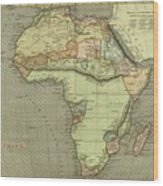 Antique Maps - Old Cartographic Maps - Antique Map Of Africa Wood Print