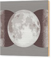 Antique Moon Wood Print