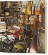 Antique Music Store Wood Print