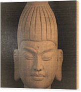antique oil effect Buddha Burmese Wood Print