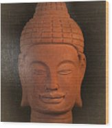 antique oil effect Buddha Khmer Wood Print