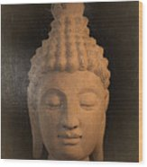 antique oil effect Buddha Sukhothai Wood Print