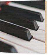 Antique Piano Keys Wood Print