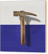 Antique Plumb Masonry Hammer On Color Paper Wood Print