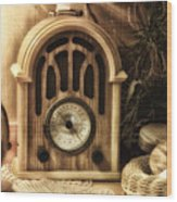 Antique Radio Wood Print