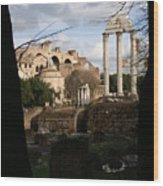 Antique Rome Wood Print