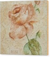 Antique Rose Wood Print