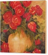 Antique Roses Wood Print