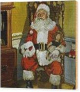 Antique Santa Wood Print by Doug Strickland