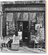 Antique Shop Paris France Wood Print